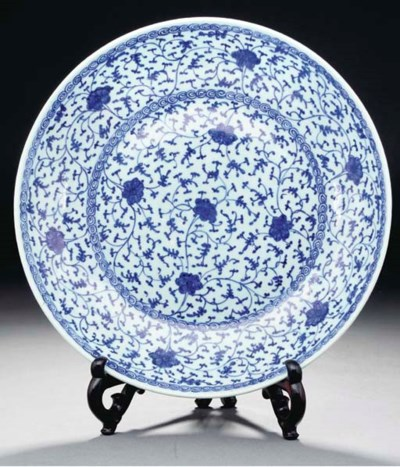 A Ming-style blue and white ch