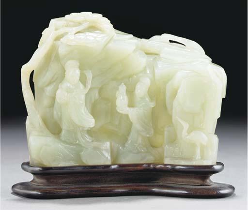 A white jade mountain group, 1