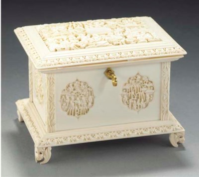 A Cantonese ivory casket, 19th