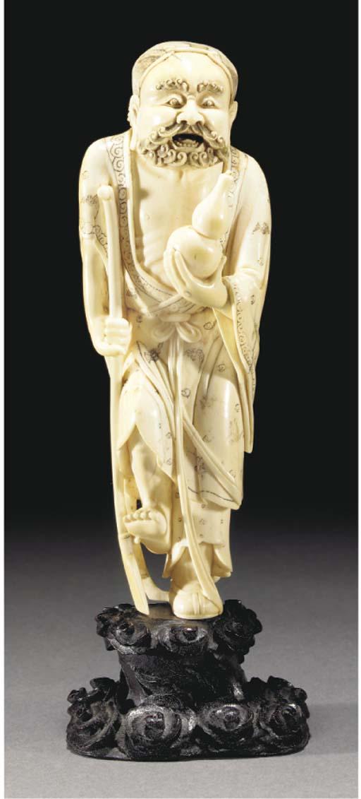 An ivory figure of an immortal