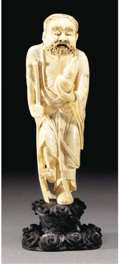 An ivory figure of an immortal