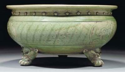 A celadon glazed Longquan trip