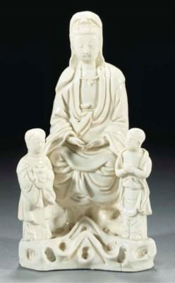 A blanc-de-chine Guanyin group