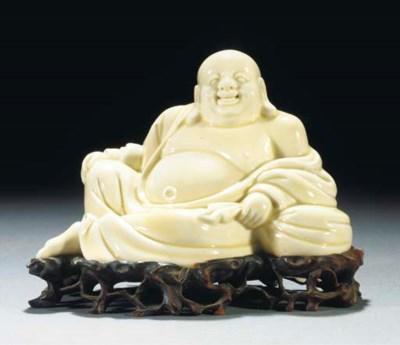 A blanc-de-chine model of Buda