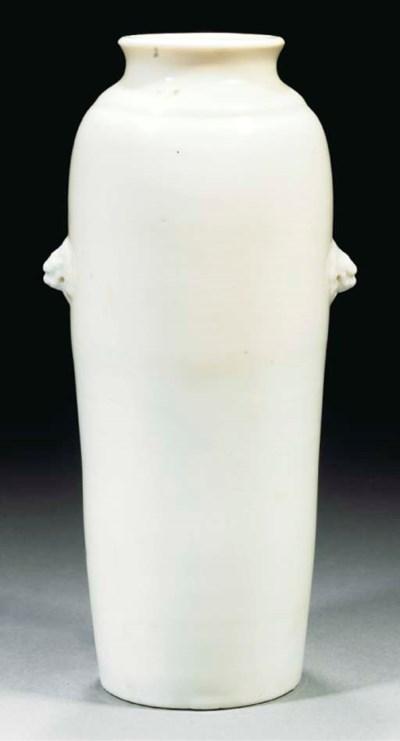 A blanc-de-chine slender taper