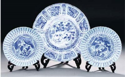 A blue and white Kraak dish, W