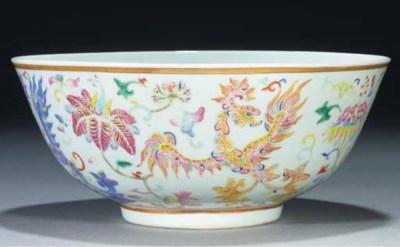 A famille rose bowl, Guangxu s