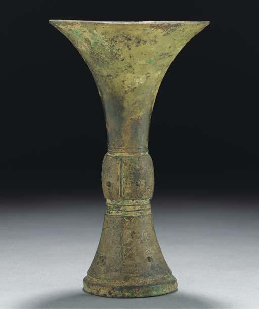 A Bronze gu vase, Shang Dynast