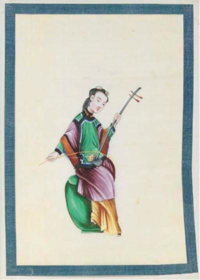 A ricepaper album, 19th centur