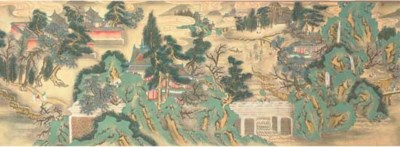 A handscroll in ink and colour