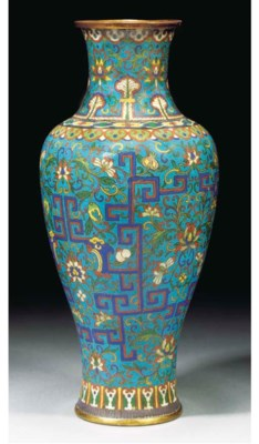 A cloisonne vase, 18/19th Cent