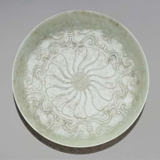 A mughal style jadeite circula