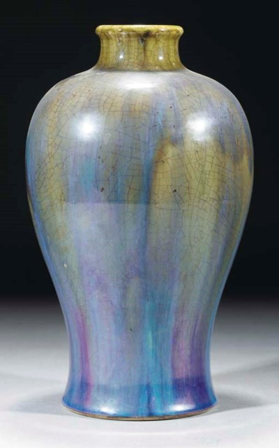 A flambe glazed meiping, 18th