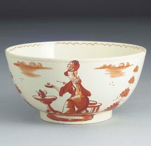An English creamware bowl