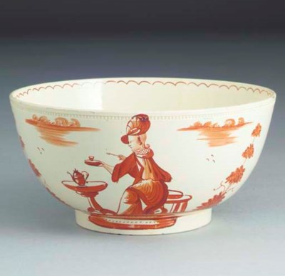 An English creamware bowl