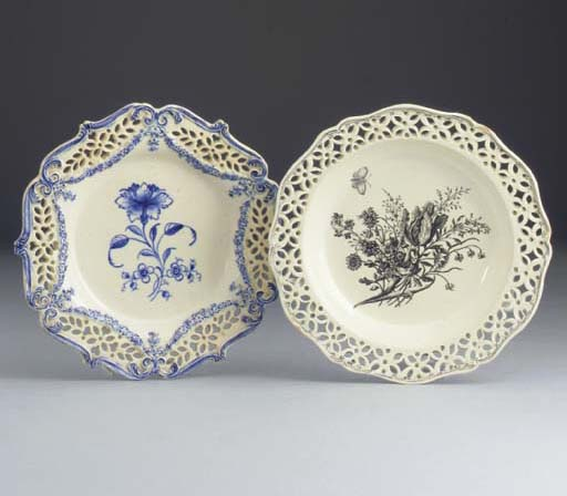 An English creamware pierced p
