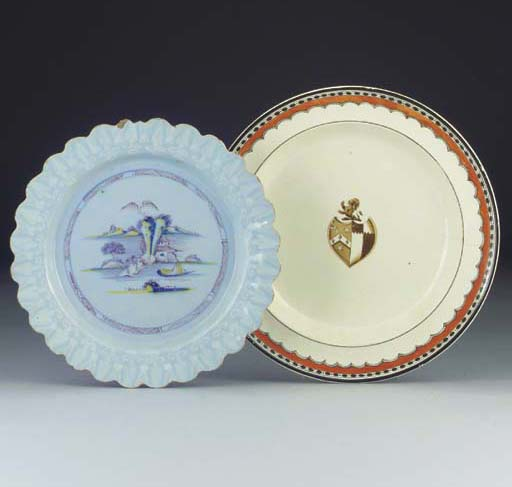 A Bristol Delft plate and a Ne