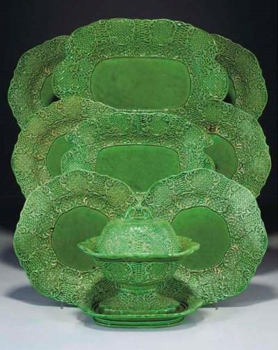 A Brameld green-glazed part de