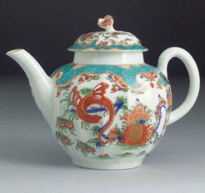 A Worcester lobed globular tea