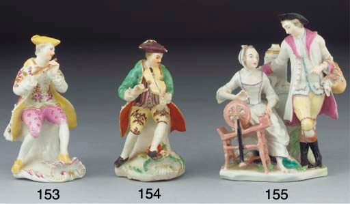 A Derby figure of a seated vio