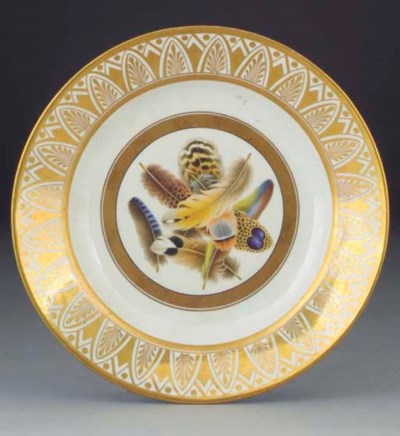 An English porcelain plate