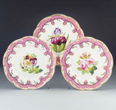 Six English dessert-plates