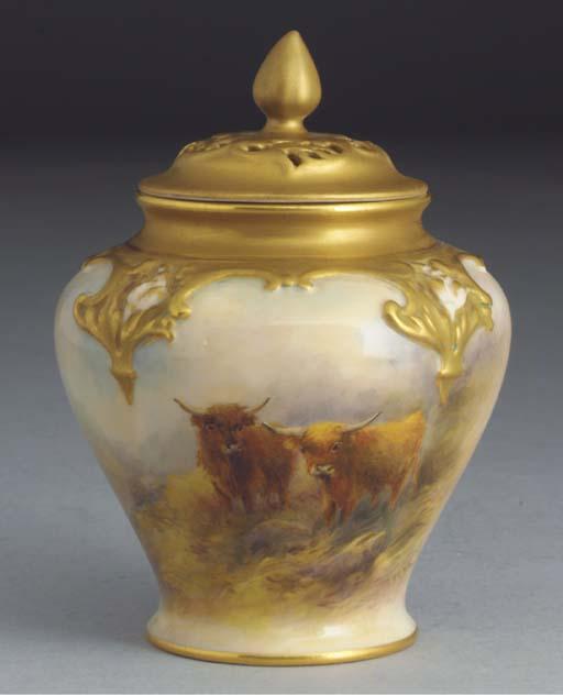 A Royal Worcester baluster vas