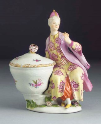A Meissen sweetmeat figure and