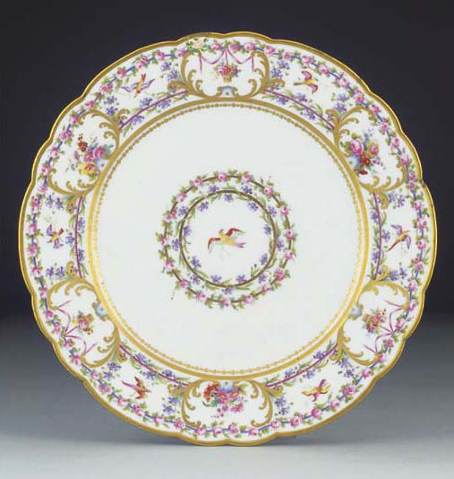 Eight Paris (Darte) plates
