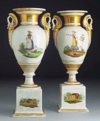 A pair of Paris Empire-style v