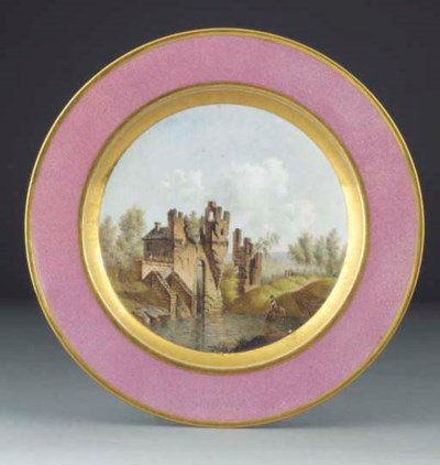 A Sevres topographical plate