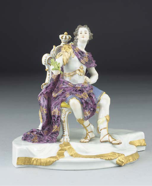 A Meissen figure of an Emperor