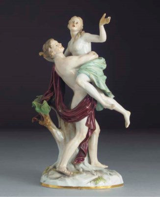 A Meissen figure of Boreas and