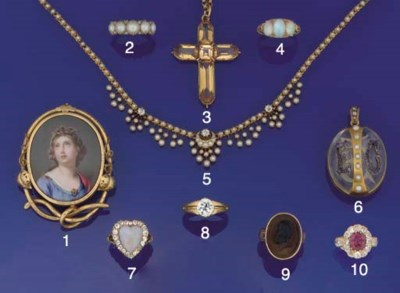 A Victorian gold-mounted cryst