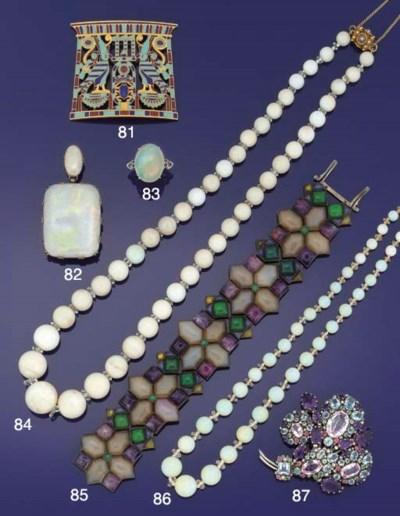 A gem bracelet by Sybil Dunlop