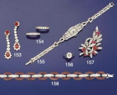 A diamond and ruby bracelet