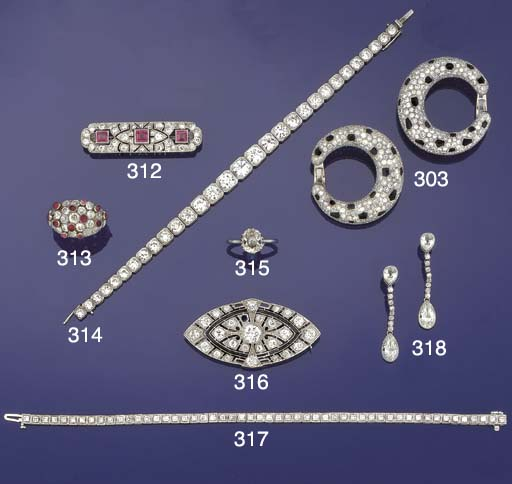 A fine diamond line bracelet