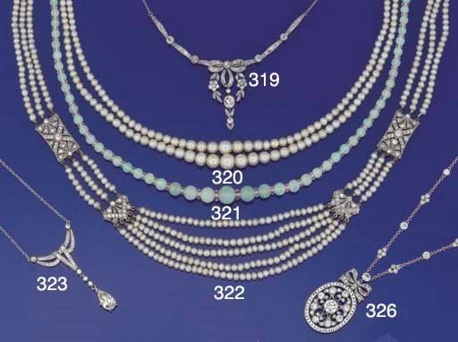 An opal bead necklace