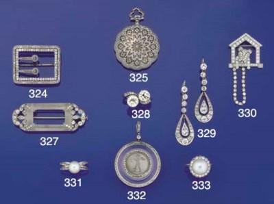 A diamond novelty brooch