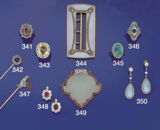A Belle Epoque sapphire and di