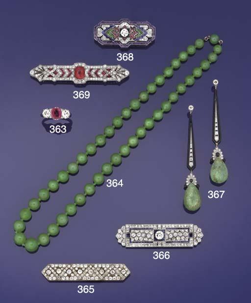 An Art Deco diamond and sapphi