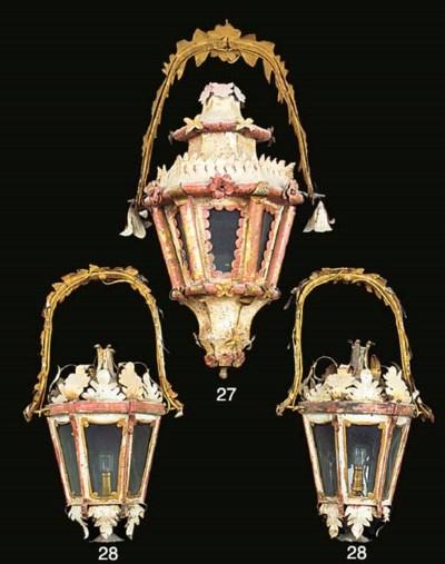 A pair of Venetian polychrome