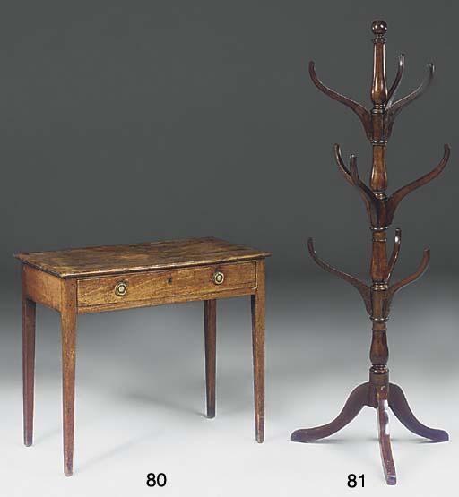 A mahogany hat stand