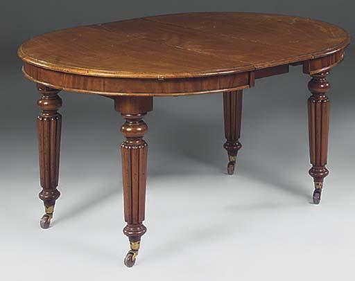 A Victorian mahogany extending