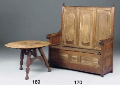 A Dutch oak folding table