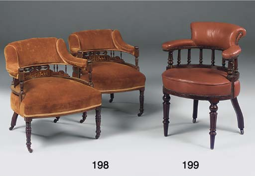 A PAIR OF LATE VICTORIAN ROSEW