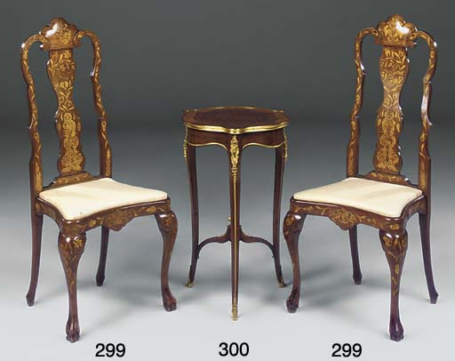A FRENCH GILT METAL PARQUETRY