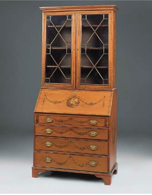 A VICTORIAN SATINWOOD AND POLY