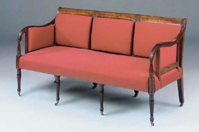 A Regency mahogany sofa