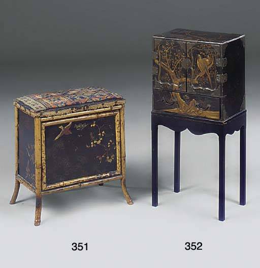 A SMALL CHINESE LACQUER CABINE